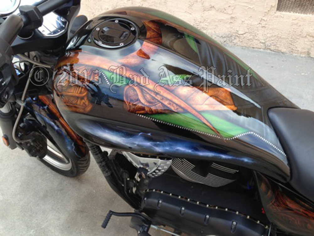 Custom Paint Motorcycle Graphics Bad Ass Paint