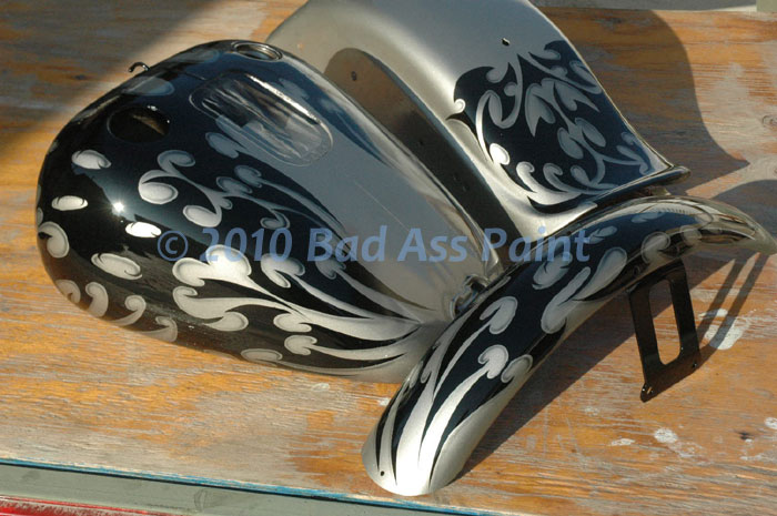 Custom Airbrush Paint Motorcycle Flames Bad Ass Paint