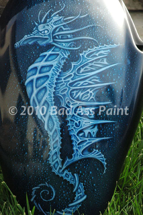 custom airbrush paint fantasy motorcycle design