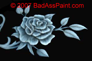 custom airbrush paint floral helmet design