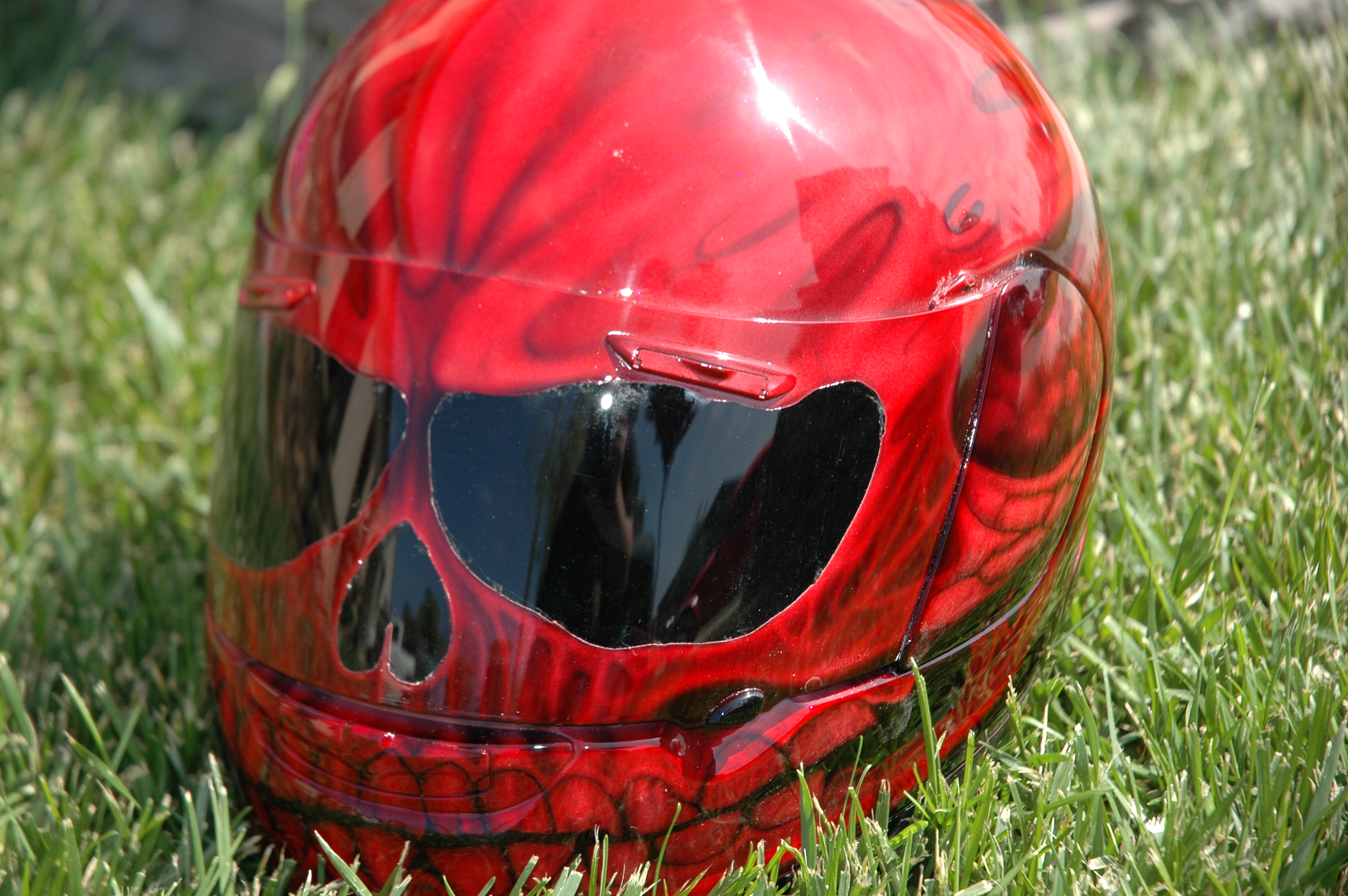 custom airbrush paint motorcycle helmets for sale by bad ass paint. Black Bedroom Furniture Sets. Home Design Ideas
