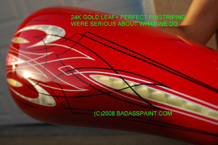 custom airbrush paint pinstripe design