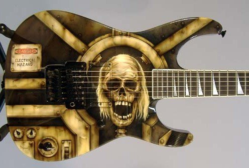 custom paint guitar
