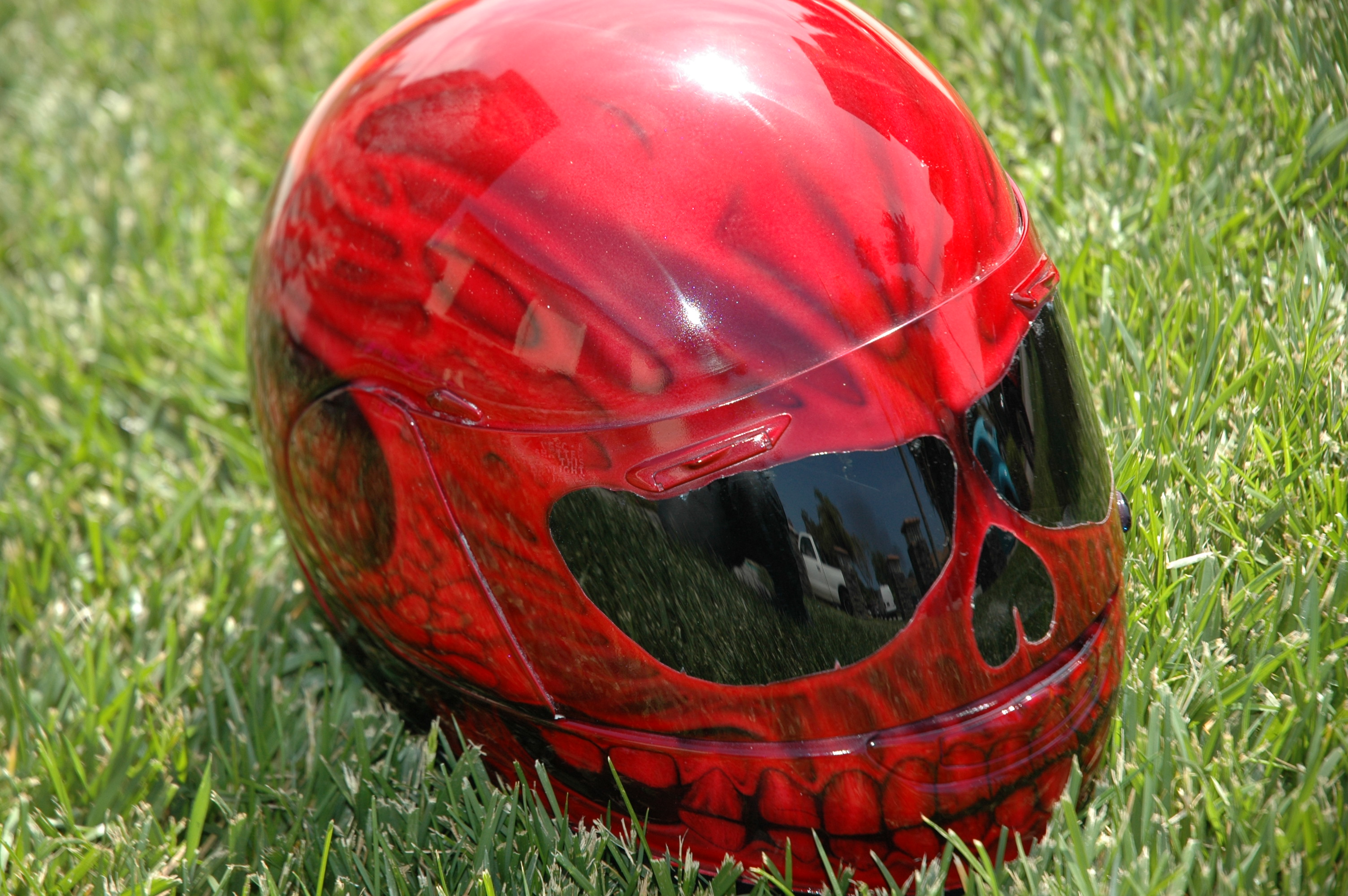 Custom airbrush paint motorcycle helmets for sale by Bad ...