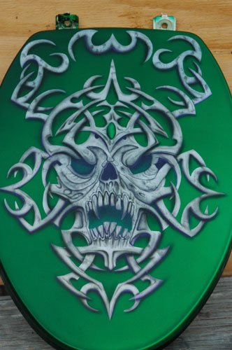 Custom Airbrush Painted Toilet Seats Commode Covers By Bad